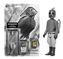 2014 SDCC FUNKO REACTION BLACK & WHITE ROCKETEER FIGURE