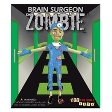 OFF THE WALL TOYS ZOMBIE BRAIN SURGEON BENDABLE ACTION FIGURE - CLEARANCE