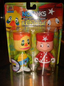 2009 SDCC FUNKO NODNIKS H.R. PUFNSTUF & RED CLING CLANG BOBBLEHEADS