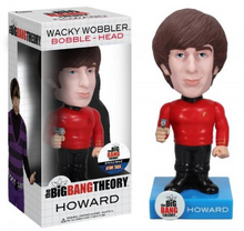 FUNKO BIG BANG THEORY: HOWARD STAR TREK SHIRT WACKY WOBBLER BOBBLEHEAD - CLEARANCE