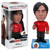 FUNKO BIG BANG THEORY: RAJ STAR TREK SHIRT WACKY WOBBLER BOBBLEHEAD - CLEARANCE