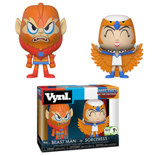 2018 ECCC FUNKO VYNL TELEVISION MASTERS OF THE UNIVERS: SORCERESS & BEASTMAN EXCLUSIVE VINYL FIGURE 2 PACK - LE 2500