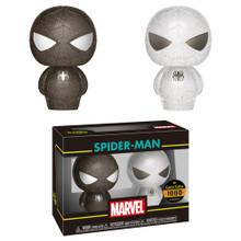 FUNKO HIKARI XS  MARVEL: BLACK & WHITE SPIDER-MAN VINYL FIGURE 2 PACK - LE 1000