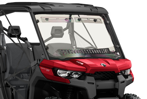 Spike Scratch-Resistant Multi-Vent Windshield with Hard Coat Can-Am Defender