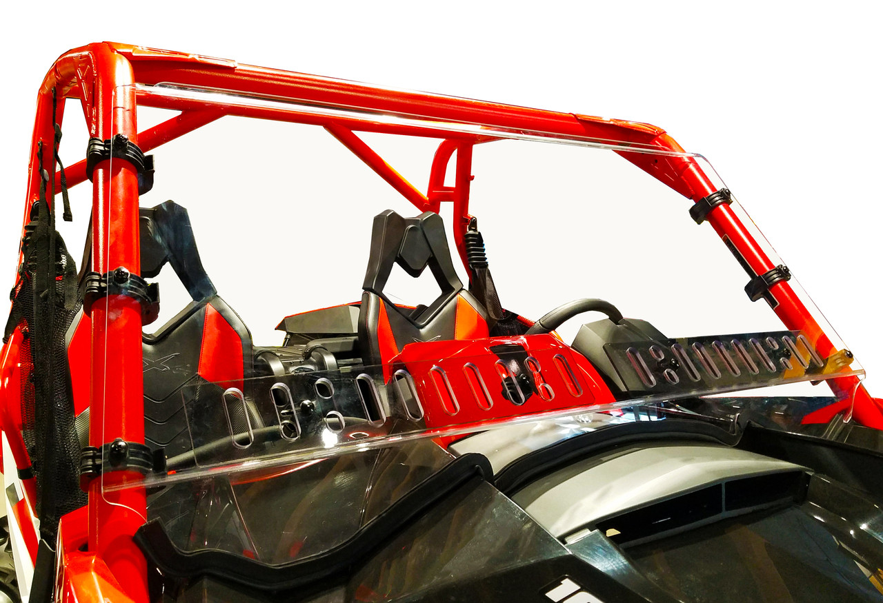 Can-Am Maverick Full Hard-Coated Windshield with Air Dual Sliding Vents