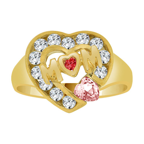 Fine Gold Mom Rings 14k