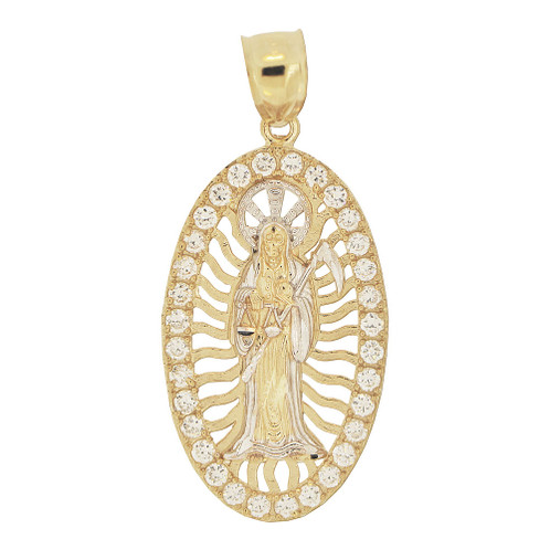14k gold death reaper santa muerte charm p022 021givemegold image 1 mozeypictures Gallery