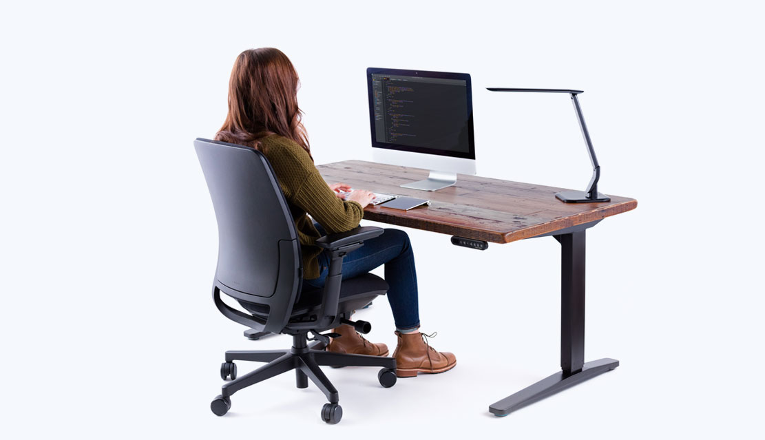 Shop Uplift Eco Corner 100 Recycled Wood Stand Up Desks