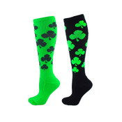 Lucky Shamrock Over the Calf Sport Socks