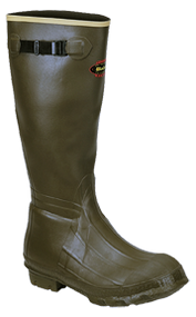 """La Crosse Burly 18"""" Cleated Olive Drab Boots Size 10 - 1 Pair"""