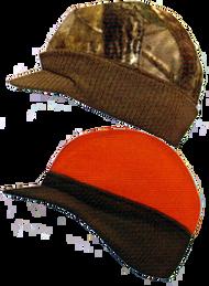 Knit Visor Cap Reversible Realtree All Purpose to Blaze