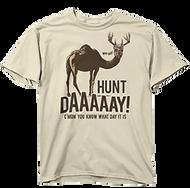 Buck Wear Hunt Day Short Sleeve T-Shirt Sand 2Xlarge