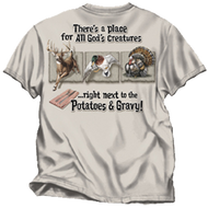 Buck Wear All Gods Creatures Sand T-Shirt Adult 2XLarge
