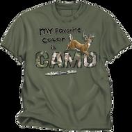 Buck Wear Favorite Color Camo Moss Tee XSmall