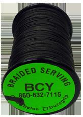 BCY 350 Nylon Braid .015 Serving Black 125YD Spool Bowstring Material