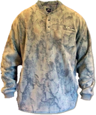 Natural Gear 3 Button Layering Fleece Henley Large