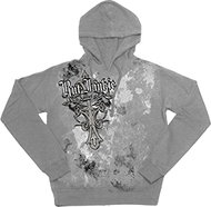 Rutt Junkie Addicted Cross Hoodie Silver Medium