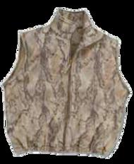 Natural Gear Full Zip Fleece Vest Natural Camo Large
