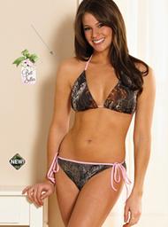 Weber Camo Bikini Top Breakup Camo w/Pink Trim Small