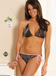 Weber Camo Bikini Top Breakup Camo w/Pink Trim Medium
