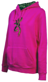 Signature Womens Buckmark Camo SweaT-Shirt Fushia Small