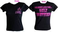 "Womens ""We Hunt Like You Only Prettier"" Black T-Shirt Xlarge"