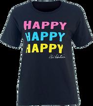 Womens Duck Commander S/S Shirt Happy Happy Happy Small