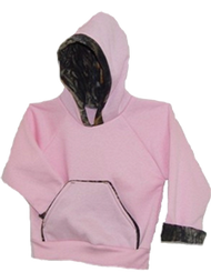 Hooded Pink SweaT-Shirt Mossy Oak Breakup Trim 2T-3T