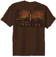Signature Youth Browning Camo S/S T-Shirt Coffee w/Browning Silo Xlarge