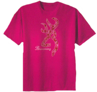 Signature Youth Short Sleeve Pink Camo T-Shirt Large
