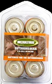Moultrie Alkaline D Batteries - 4 Pack