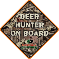 Mossy Oak Huntin Buddy On Board Decal Breakup Camo