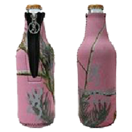 Bone Collector Bottle Coozie Pink w/Silver Logo