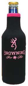 Browning 12oz Black & Pink Bottle Cooler