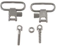 "Mikes QD115 1"" Nickel Plated Sling Swivel - 1 Pair"