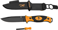 Browning Ignite Fixed Blade Knife Black/Orange w/Sheath
