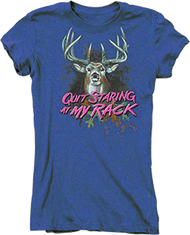 Buck Wear Womens Quit Staring Iris Short Sleeve T-Shirt 2Xlarge