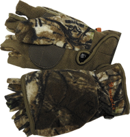 Womens Bowhunter Convertible Gloves Realtree Xtra Camo Large - 1 Pair