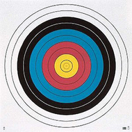Maple Leaf 122cm 4 Color Face E.T.R. Paper Target - 10 Pieces