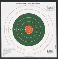 Allen/Remington 100yd Bullseye Sight-In Target - 12 Pieces