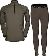 HECS Base Layer Pants & Shirt Green Medium