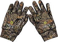HECS Mossy Oak Country Camo Gloves Large/XLarge - 1 Pair Men's Gloves