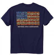 Buck Wear NRA Shot Gun Flag Short Sleeve T-Shirt Large