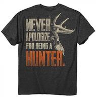 Buck Wear Never Apologize Short Sleeve T-Shirt 2XLarge
