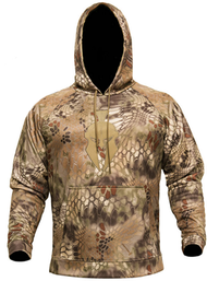 Kryptek Tartaros Men's Hoodie Sweatshirt Highlander Camo/Tan Large