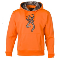 Browning Men's Hoodie Sweatshirt w/RTX Buckmark Blaze Orange Medium