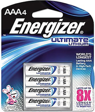 "Energizer Ultimate Lithium ""AAA"" Battery - 4 Pack"