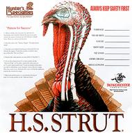 "HS Turkey Targets 11""x 11"" - 12 Pieces"