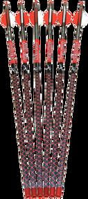 """Parker Redhot 20"""" Carbon Crossbow Bolt - 6 Pack"""