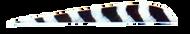 "Trueflight Gray Bar 4"" RW Feathers - 100 Pieces"